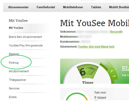 Mit YouSee Mobil forside